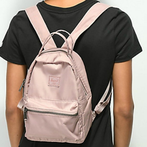 35348b39190 NWT Herschel Nova Mini Backpack in Satin Ash Rose